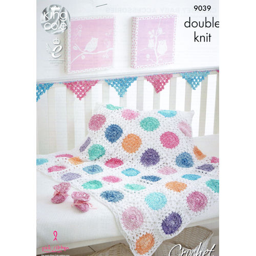 King Cole Crochet Pattern 9039