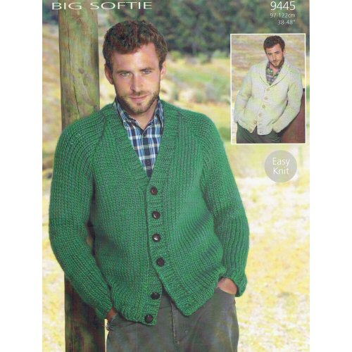 Sirdar Pattern 9445 super chunky cardigan for men