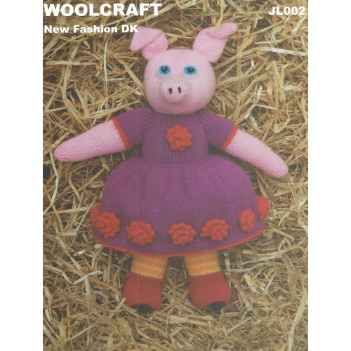 Woolcraft Pattern Jl002 Knitted Pig Toy