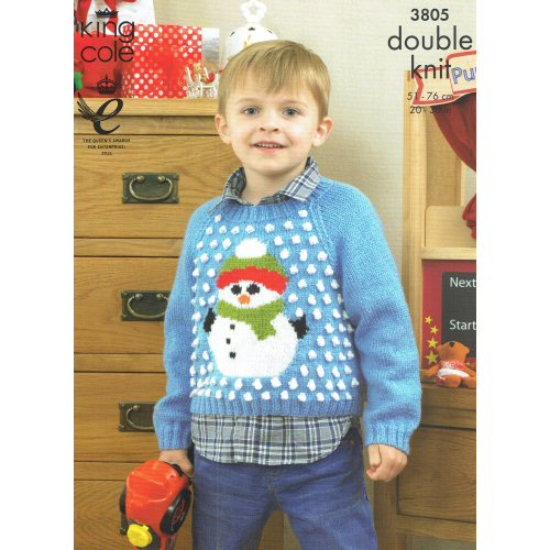 5f920ca4f King Cole Pattern 3805 santa   snowman sweater