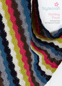 Free crochet pattern for humbug blanket