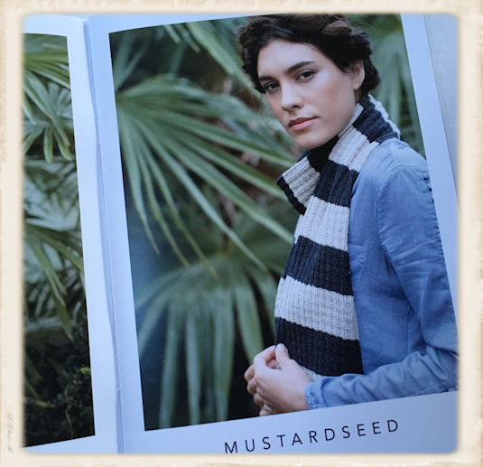 rowan selects denim lace mustard seed scarf